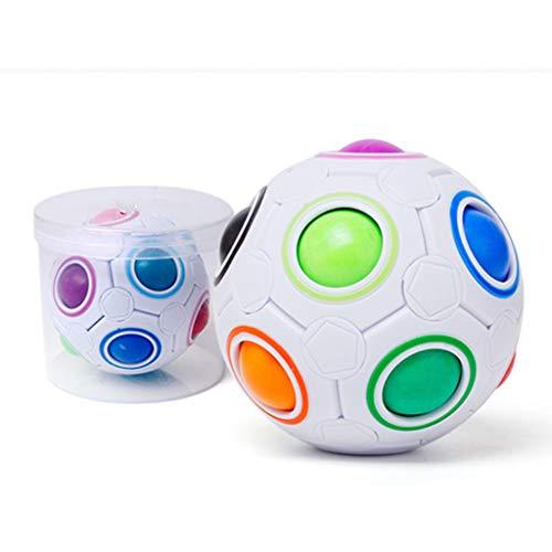 Tancyechy Magic Ball Toy Fidget Rainbow Puzzle Bola mágica para concentración Niños Regalo Bola mágica