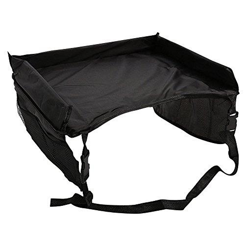 Best World 4 Yu Wocharm Kids Waterproof Stroller Car Seat Tray Table Travel Portable Toy Storage (Black)