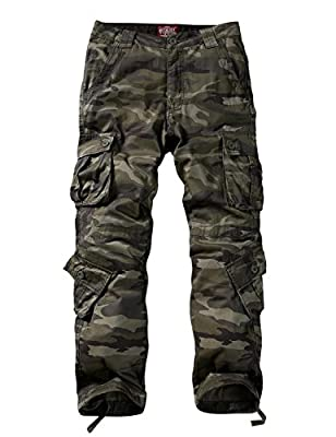 Match Men's Wild Cargo Pants(34,Army Green max)