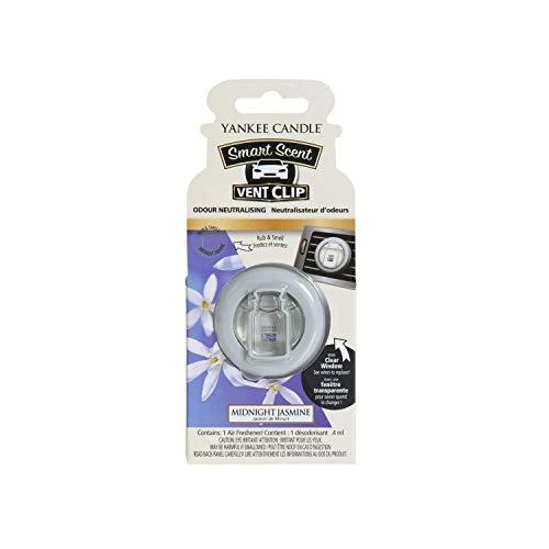 Yankee Candle 1525545E Deodoranti per Auto, Smart Scent Vent Clip, Midnight Jasmine