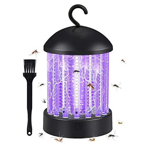 ZHAOW Mata mosquitos, 2 en 1, lámpara de protección antimosquitos, recargable, repelente de insectos, mata insectos electrónico, para interiores, protección contra mosquitos LED al aire libre