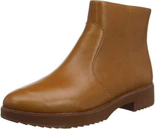 FitFlop Damen Maria Welted Ankle Bootie-Leather Kurzschaft Stiefel, Braun (Ss18 Light Tan 592), 36 EU
