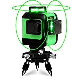 BORKA 12ライングリーンレーザー墨出し器 3Dフルライン レーザー強弱調整可能 斜線機能 7mm壁寄り距離 ドイツオスラム光源 1年間保証 (グリーン1)
