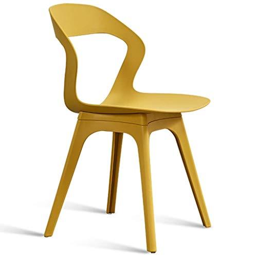 Chaises salle à manger en plastique nordique moderne Chaise de douche, café Table d'appoint Chaise Chaise de bureau portable Chaise longue, Salon, Jardin, Tenir jusqu'à 250 lb, option multi-couleurs