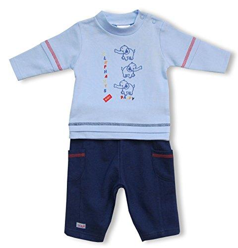Schnizler Baby - Mädchen Jogginganzug Nickianzug Happy Elephants, Gr. 50 (Herstellergröße: 50/56), Mehrfarbig (original 900)