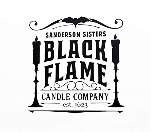 Black Flame Candle Vinyl Decal Halloween Decor Sanderson Sisters Decal Black Candle Hocus Pocus Decal