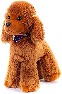 Ruzucoda Plush Poodle Dog Puppy Stuffed Animals Toys Dolls Kids Gifts Brown 12 Inches