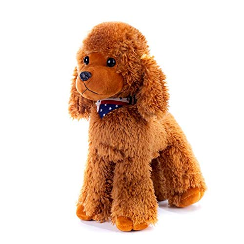 Plush Poodle Dog Puppy Stuffed Animals Toys Dolls Kids Gifts Brown 12 Inches
