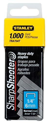Stanley TRA704T 1/4-Inch Heavy Duty Staples, Pack of 1000