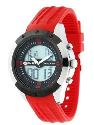 Marea Watch - Reloj Analógico-Digital con varias funciones - Color : rojo/Negro