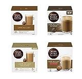 Nescafe Dolce Gusto Café Au Lait Paquete variado - 4 mezclas (64 porciones, paquete de 4, total 64 cápsulas)