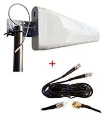 Wide Band Log Periodic Yagi Antenna with 30ft cable and mounting bracket (Pole is not included) 1 x SMA Male connector on 30ft cable for MOFI4500 Cellular 4G LTE Router Frequency: 698-960/1710-2700 MHz Gain: 11dBi Cable 30ft LMR200 Low-Loss Cable Ant...