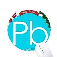 化学元素周期表貧しい金属鉛Pb クリスマスツリーの滑り止めゴム形のマウスパッド
