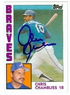Chris Chambliss autographed baseball card (Atlanta Braves) 1984 Topps #50 - Autographed Baseball Cards