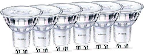 Philips LEDclassic WarmGlow Lampe ersetzt 50W, GU10, warmweiß (2200-2700 Kelvin), 345 Lumen, Reflektor, dimmbar, 6er Pack