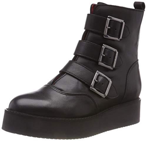 Buffalo Wax Nappa Leather voor dames Enkellaarzen