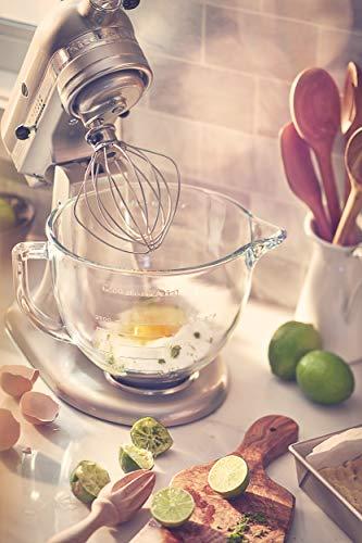 KitchenAid KSM155GBSR 5-Qt. Artisan Design Series with Glass Bowl - Sugar Pea   rl Silver