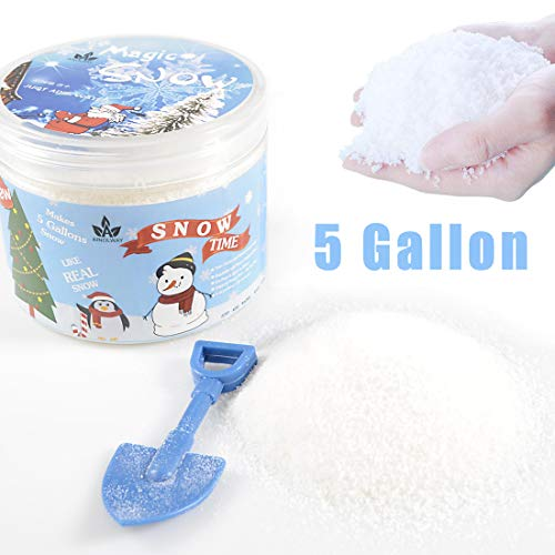 AINOLWAY Instant Snow Fake Snow Powder for Cloud Slime, Makes 5 Gallons of Artificial Snow (Makes 5 Gallons)