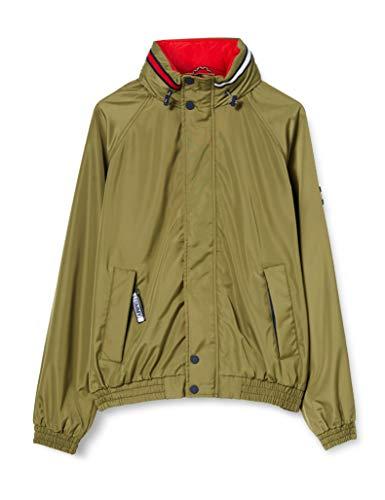Tommy Jeans TJM Retro Bomber Jacket Chaqueta, Verde (Uniform Olive L8q), Medium para Hombre