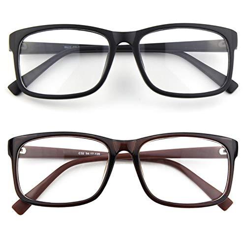 CGID CN12 Brille Extra Schmaler Rahmen! Slim Rechteck Nerd Clear Brille