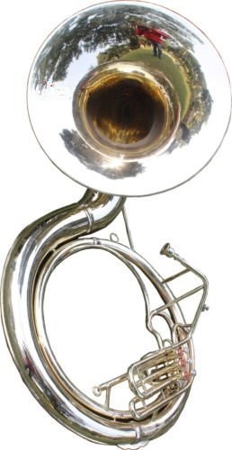 Queen Brass Sousaphone tuba grande 25 válvulas, hecha completamente de latón, con bolsa de tuba en acabado de latón, plateado