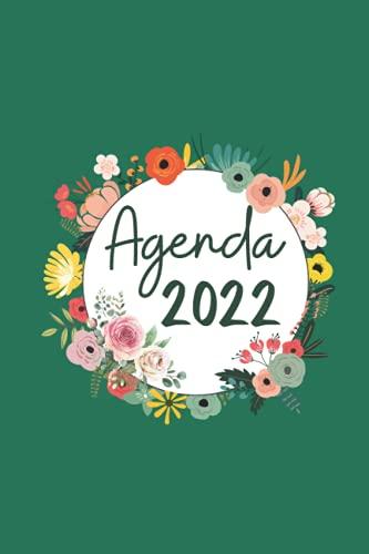 AGENDA: Planificador semanal   2 páginas por semana con mucho espacio para notas   A5 150 páginas   Flor  Regalo mujer , familia y amigos