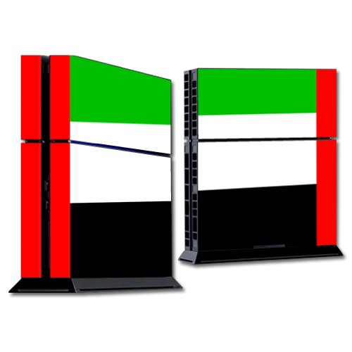 MightySkins Skin Compatible with Sony Playstation 4 PS4 Console wrap Sticker Skins United Arab Emirates Flag