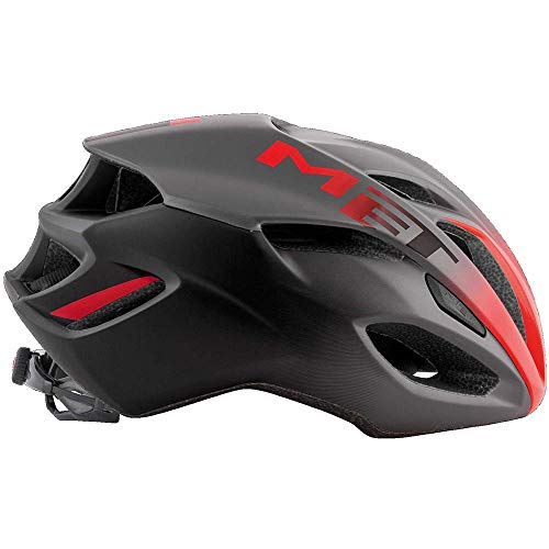Met Casco RIVALE M(54-58) Ciclismo, Adultos Unisex, Multicolor (Rojo Sombra)