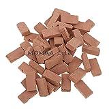 MOMAA 1/16 Miniature Brick -Scale Wall Bricks Mini Bricks Model Sand Table Micro Landscape Accessories DIY Dollhouse Bricks Diorama Fairy Garden (red+Grey) (red)