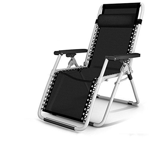 Lazy Sofa LI Jing Shop - Chaises Longues Coussin épaississement Bureau Pause déjeuner Simple Nap lit Adulte (Couleur : Noir)