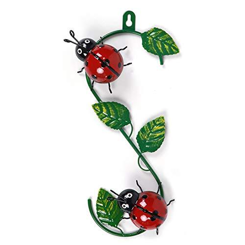 Jiaojie 3D Metall Bienen- / Marienkäfer-förmiges hängendes Dekor World Bee Day Wandkunst Anhänger Pastoral Style Geschenk für Zuhause 30 * 5 * 15cm