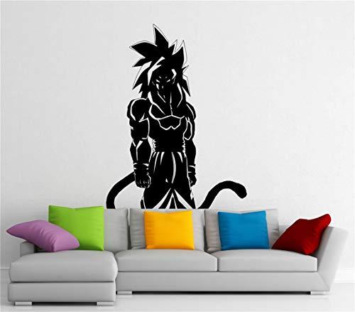 wandaufkleber fenster Son Goku Wandtattoo Manga Anime Vinyl Aufkleber Japanischen Home Interior Schlafzimmer Dekor Kunst Wandbild Tür Aufkleber Haushaltswaren