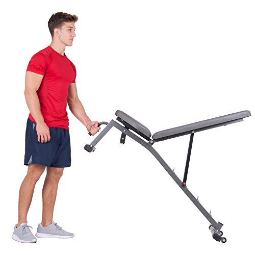 Body Champ Launch Bench Set with 2-Piece Power Rack, Home Fitness Equipment