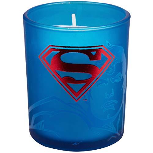 Product Image 3: Insight Editions DC Comics Justice League Glass Votive Candles – Set of 4 – Superman, Wonder Woman, Flash, Batman – Unscented – 3 oz Each
