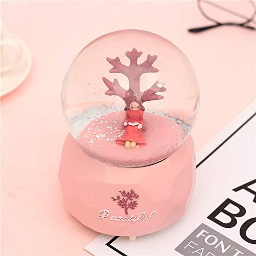 Crystal Ball,Chica Debajo del Polo De Agua del Copo De Nieve del árbol-Regalo De...