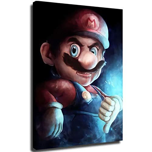 Pintura al óleo detallada de Mario Contemporary Art sobre lienzo, obra abstracta de arte de 45,7 x 60,9 cm