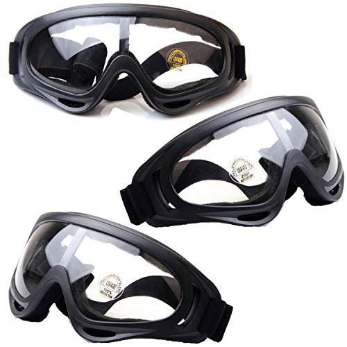 HONGCI 3 Pack Safety Glasses,Anti Fog and UV Protection...