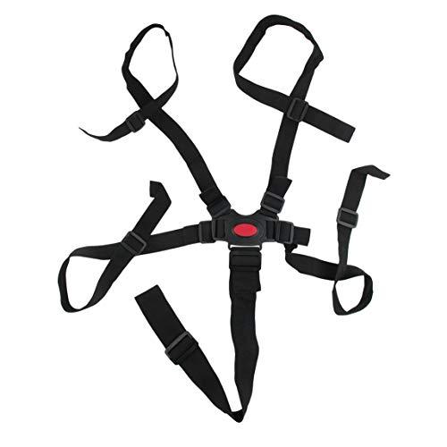 Petrichori Arnés Universal para bebé de 5 Puntos Cinturón de Seguridad para Silla de bebé Cinturón de Seguridad para Silla de Comedor Cinturón de Seguridad para Silla de Comedor - Negro