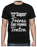 Photo de Les Super Freres sont Promus Tonton Grossesse Naissance T-Shirt Homme Large Noir