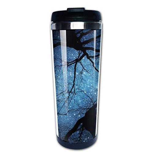 Taza de café de viaje Árboles de fantasía Taza de café con aislamiento de acero inoxidable Botella de agua deportiva 13.5 oz (400 ml) MUG-4812