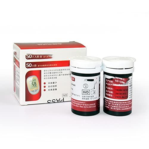 Tiras Reactivas Glucosa Sangre, Tester de glucosa en la sangre Precisión para el hogar Codificación gratuita Médico automático Diabetes Medidor de muestreo de sangre Papel de prueba de la prue