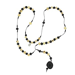 Collar de Acai lento, sin Cruz Rosario, original Sambaia, negro