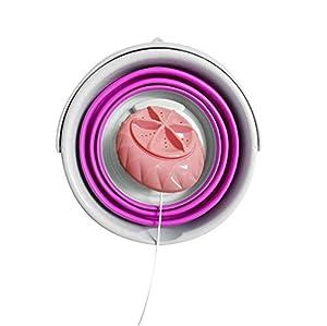 N/Y Mini Machine à Laver Portable Turbo, laveuse à ultrasons Pliable légère, laveuse de Linge de Voyage alimentée par USB pour Le Camping, dortoir