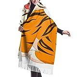 Tapiz, Accesorios de Vestidos, Bufanda con Flecos, Manta, Lindo bebé Tigre Dibujos Animados Vector Premium Abrigo cálido de Chal