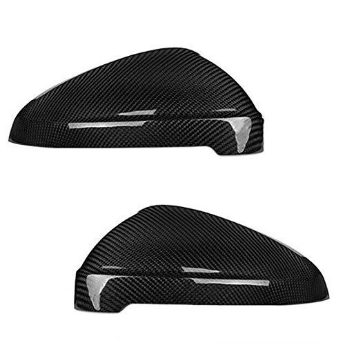 XGFCNB 1Pair Car Fibra di Carbonio Auto Specchietto retrovisore Copertura Trim cap, per AudiRS4 S4 A4 B9 A5 S5