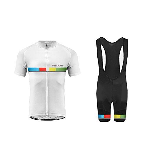 Uglyfrog Completo Maglia Ciclismo Estivo per Uomo alla Moda Maniche Corte + Pantaloncini Corti DTMX02F