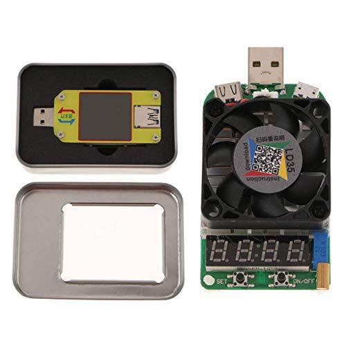 Yongenee Amperímetro de tensión UM34C USB 3.0 Tipo-C multímetro BT USB y capacidad de la batería del detector de carga USB electrónico del probador del USB Herramientas industriales