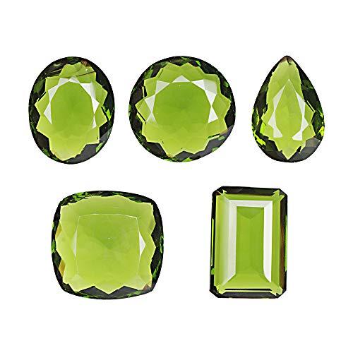 GEMHUB Amatista verde 500 quilates lote de 6 piezas de gemas facetadas de forma mixta para hacer joyas