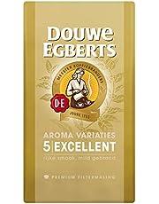 Douwe Egberts Filterkoffie Aroma Variaties Excellent Premium (3 Kilogram, Intensiteit 05/09, 100% Arabica Light Roast Koffie), 6 x 500 Gram