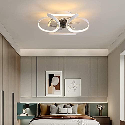 HMMHHE Ventilador de techo de iluminación LED, lámpara de techo silenciosa Velocidad del viento Control remoto de control remoto Ventilador silencioso Lámpara de techo, sala de estar Dormitorio araña